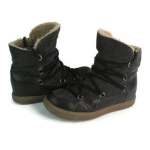 Isabel Marant Womens Black High Top Shoes Sz EU 39